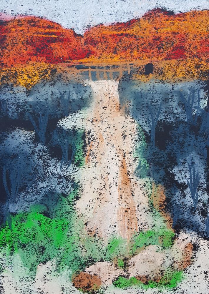 """Ghost Ranch I"" original fine art by Phyllisha Hamrick"