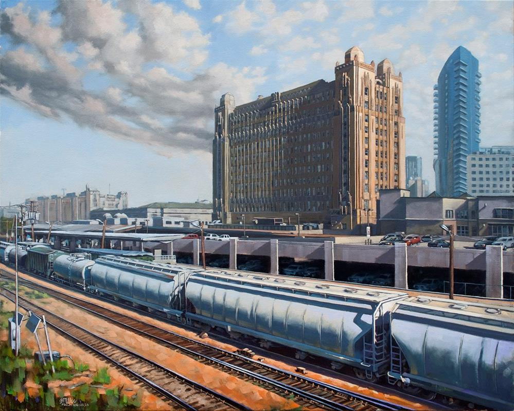 """Texas & Pacific - Across the Tracks"" original fine art by Steve Miller"