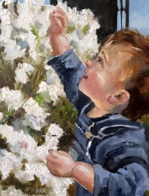 """""""Never Grow Up"""" original fine art by Marcia Hodges"""