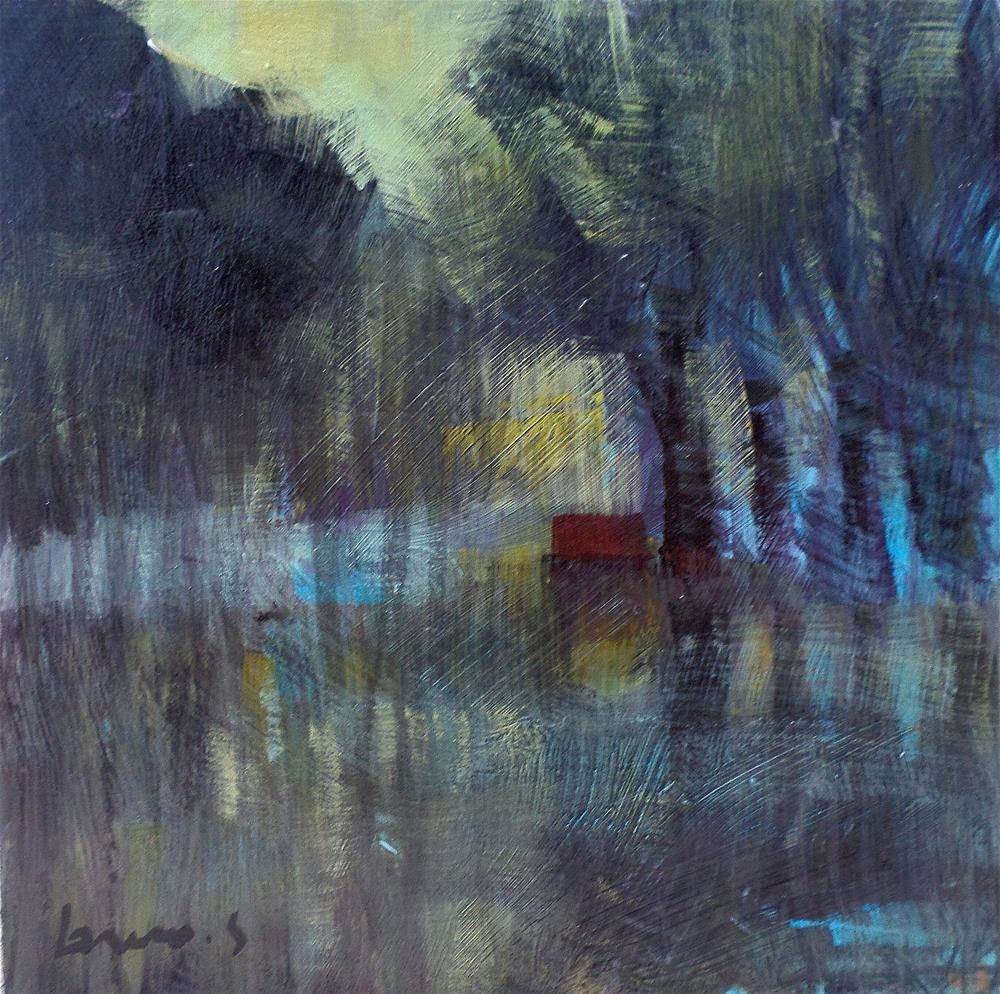 """grey morning on the pond"" original fine art by salvatore greco"