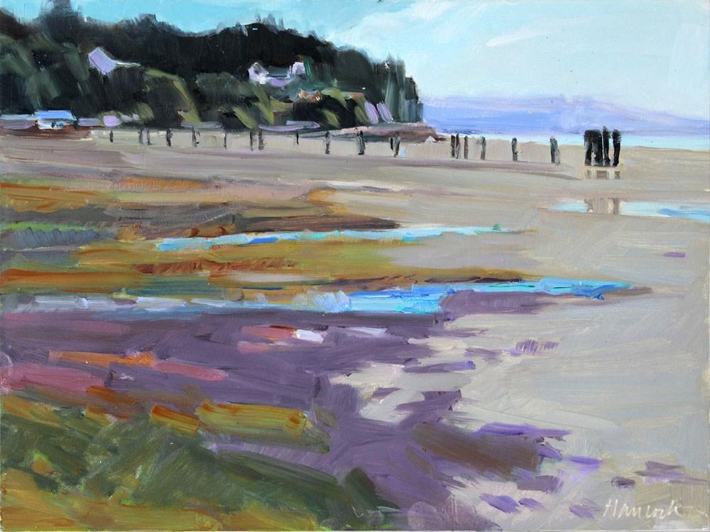 """""""Elllisport - Low Tide"""" original fine art by Gretchen Hancock"""