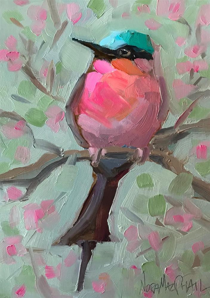 """carmine"" original fine art by Nora MacPhail"
