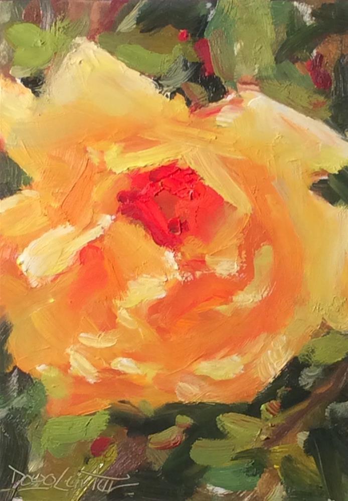 """""""' GOLDEN ROSE"""" original fine art by Doug Carter"""