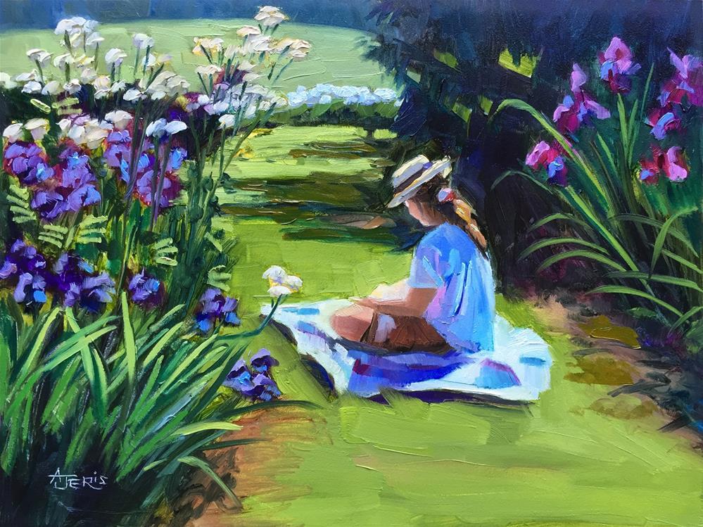 """Girl in the Garden"" original fine art by Andrea Jeris"