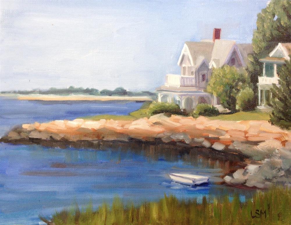 """Backyard View"" original fine art by Linda Marino"