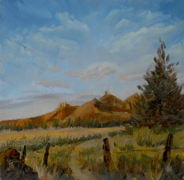"""Terrebonne Hiking"" original fine art by Kathy Johnson"