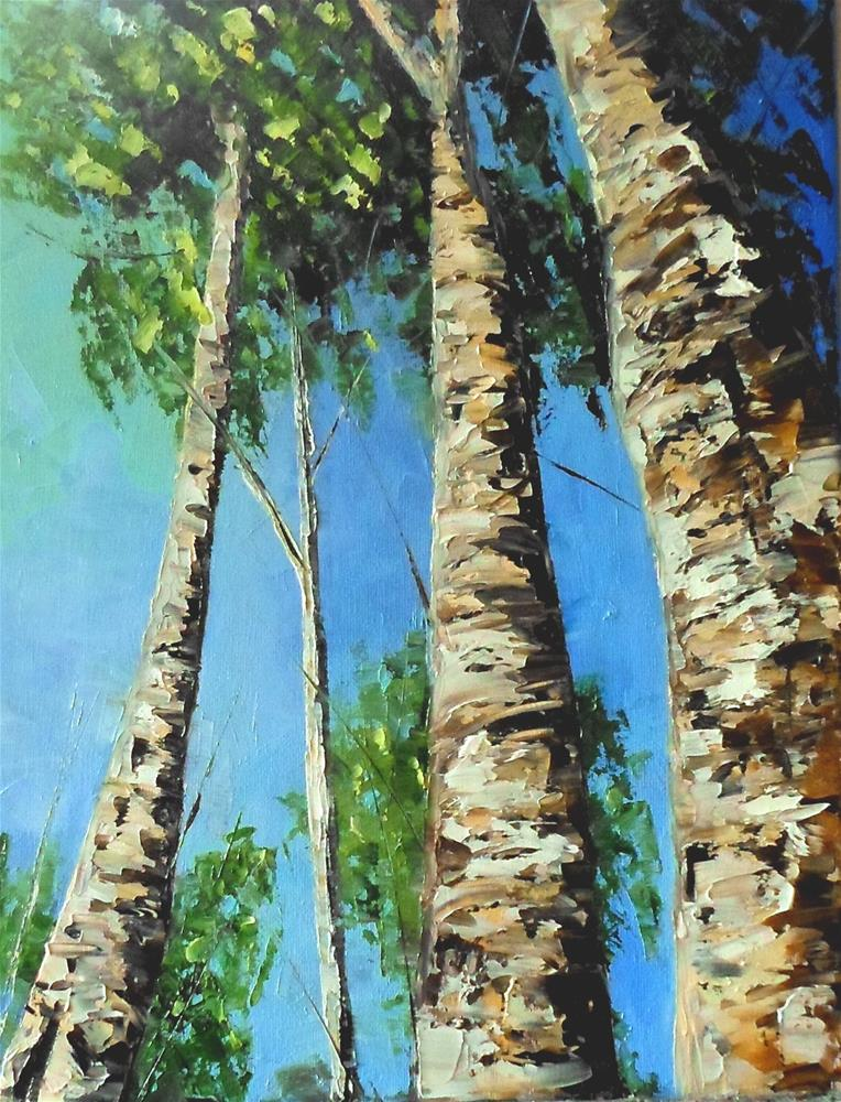 """14 x 11 inch oil Look Up"" original fine art by Linda Yurgensen"