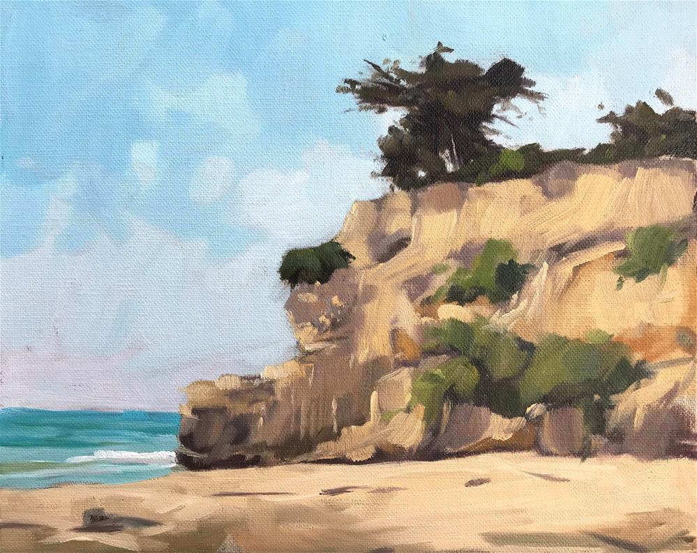 """""""Leadbetter Beach, Plein Air"""" original fine art by Sharon Schock"""