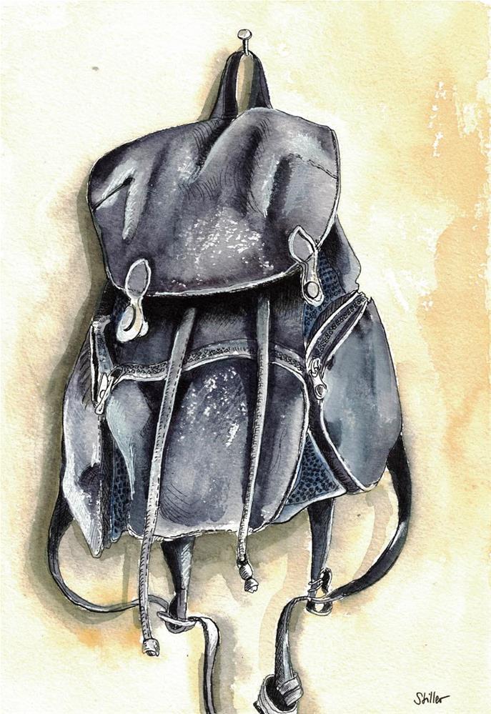"""3129 Rucksack"" original fine art by Dietmar Stiller"