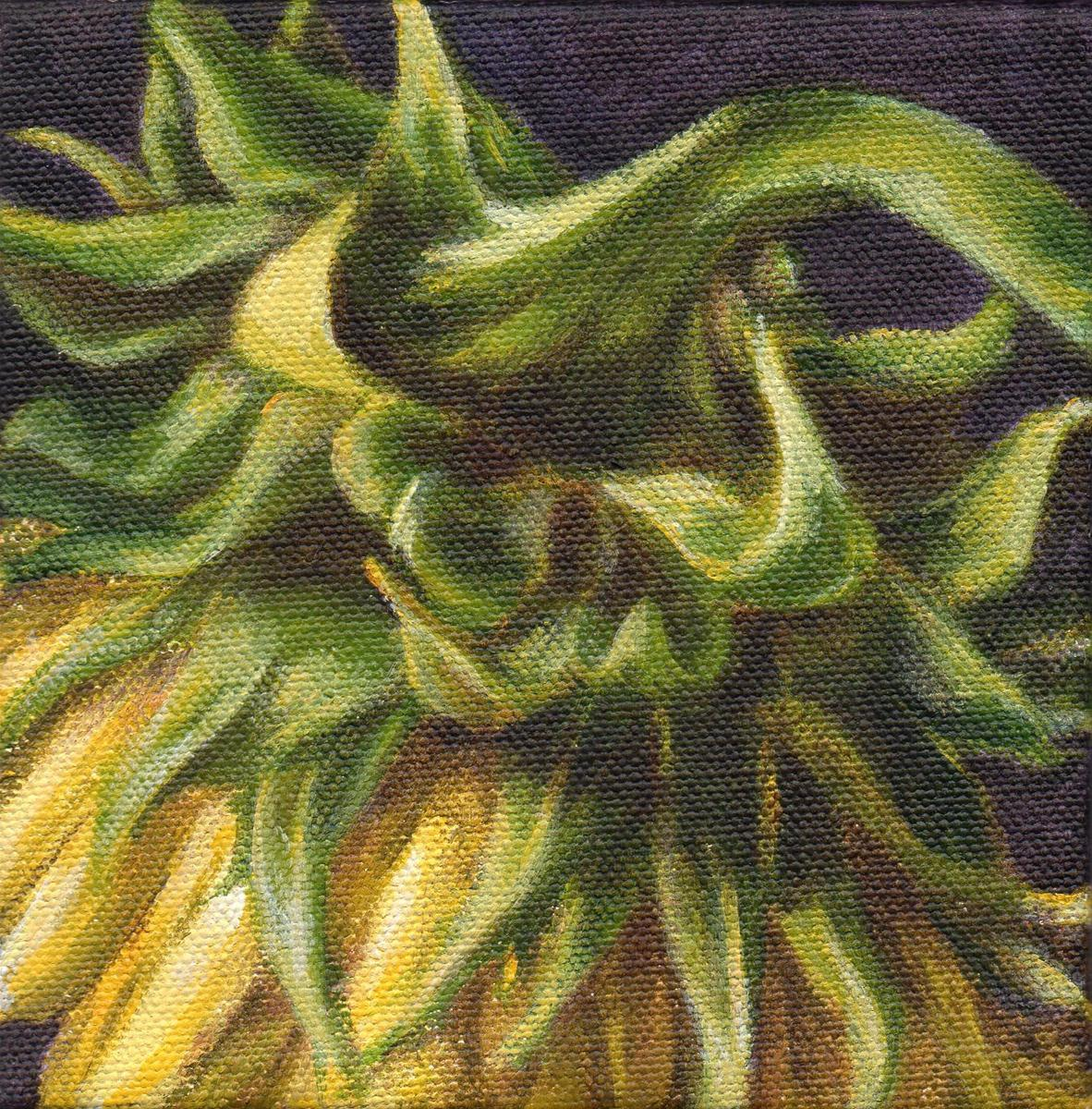 """Sun Dance Series #1 - Winter Sun"" original fine art by Debbie Shirley"