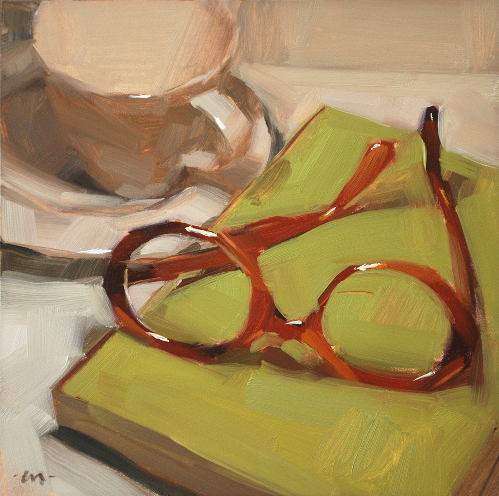 """Where Are My Glasses?"" original fine art by Carol Marine"