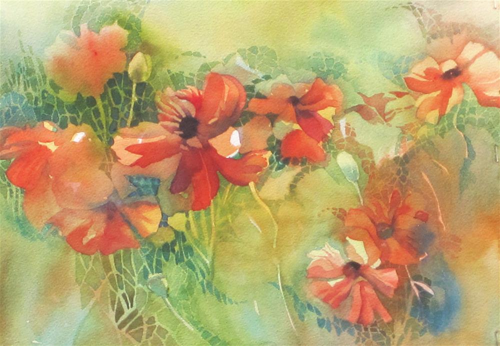 """""""Ephraim Poppies"""" original fine art by Julie Crouch"""