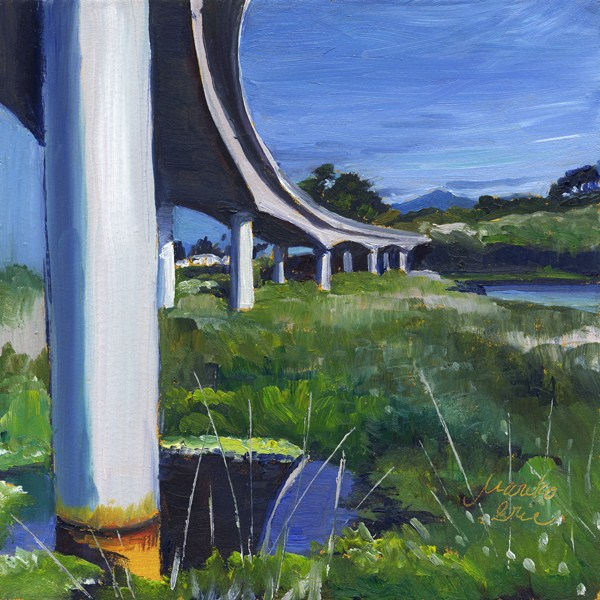 """Under Ten Mile River Bridge"" original fine art by Mariko Irie"