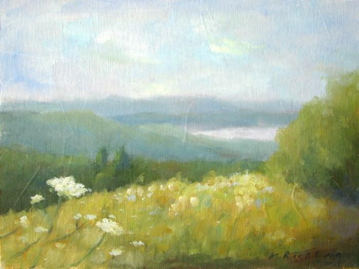 """""""Tower Hill Vista"""" original fine art by Keiko Richter"""