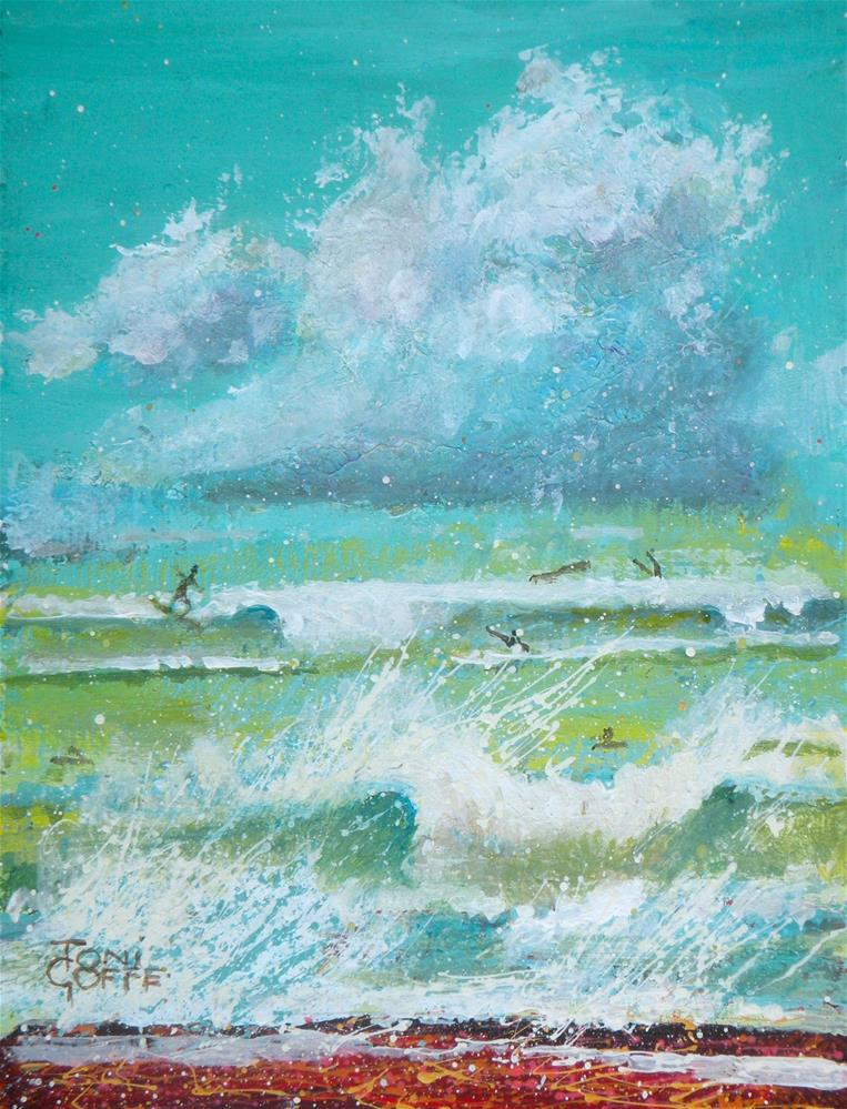 """Clouds and The Sea"" original fine art by Toni Goffe"