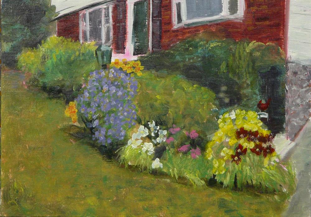 """""""Miller Garden"""" original fine art by Dave Gehman"""