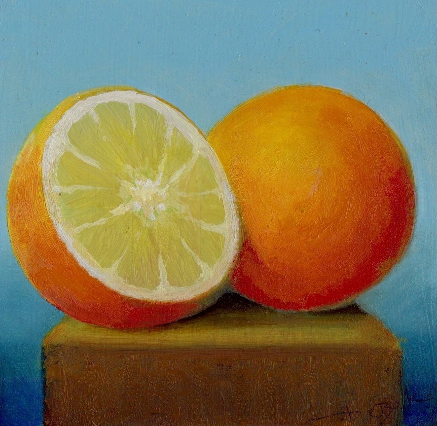 """orange"" original fine art by Mark DeBak"