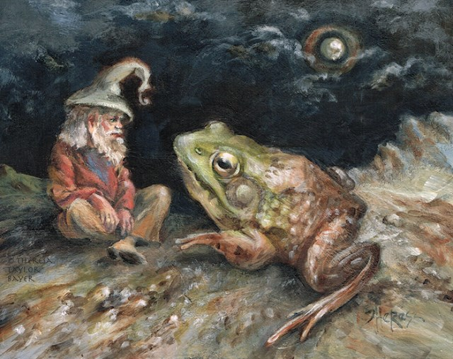 """""""Dude! I Toad You So"""" original fine art by Theresa Taylor Bayer"""