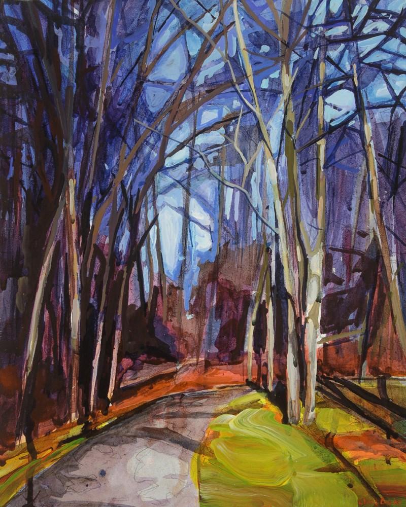 """Woods"" original fine art by Chris Breier"