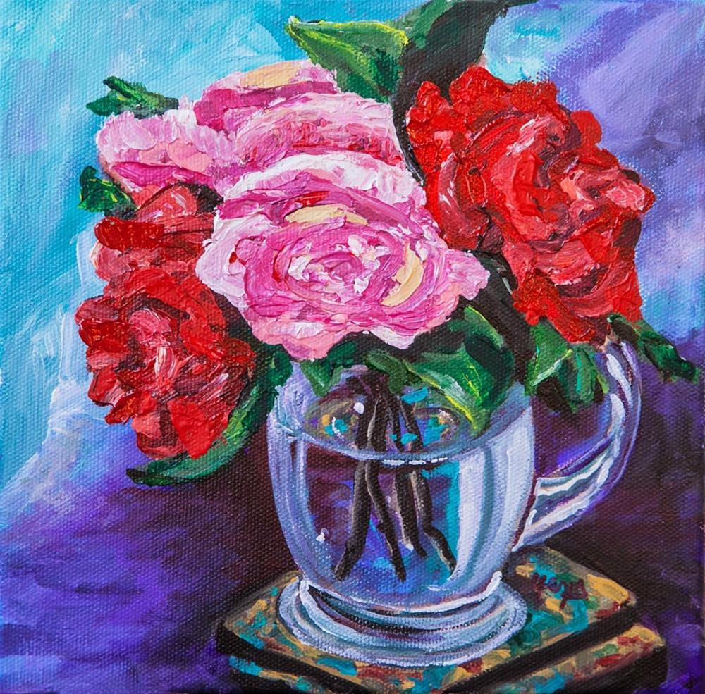"""Sugar and Spice - Acrylic Painting"" original fine art by Hema Sukumar"