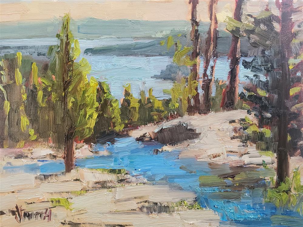 """Eagle Falls, Lake Tahoe"" original fine art by Barbie Smith"
