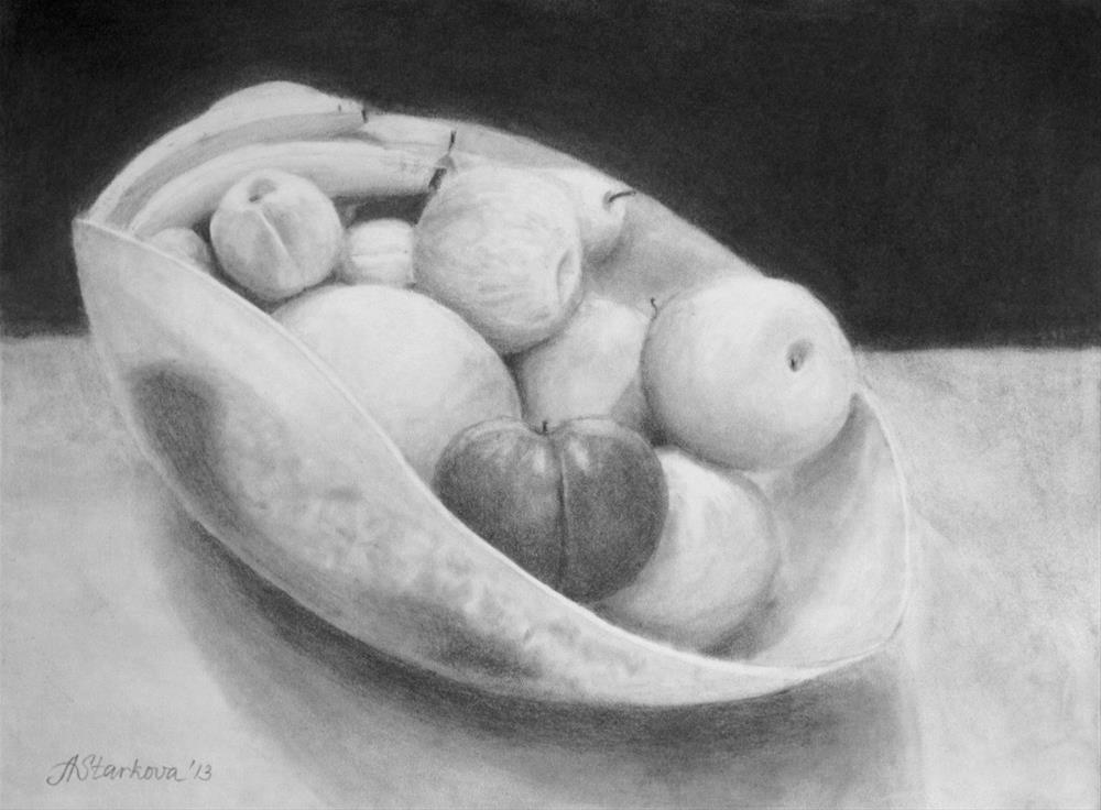 """Fruit vase"" original fine art by Anna Starkova"
