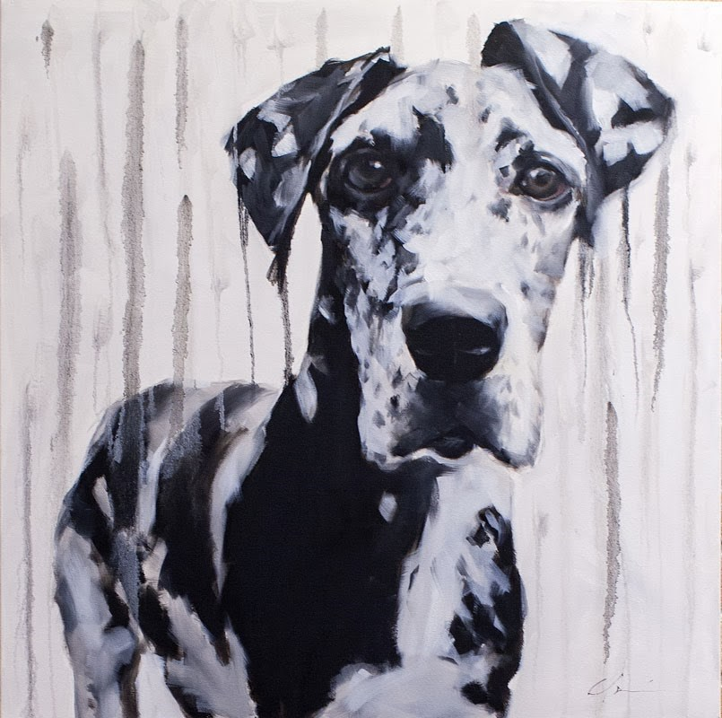 """""""Dane in the Rain"""" original fine art by Clair Hartmann"""