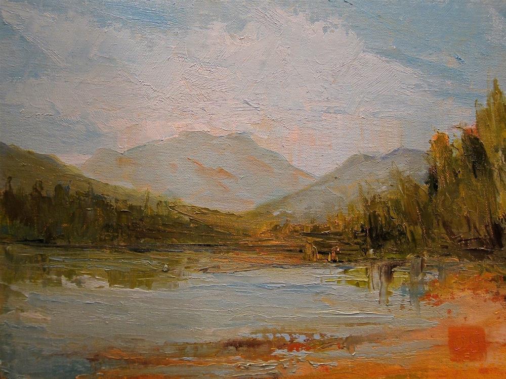 """""""Early on Heart Round Lake"""" original fine art by Aurelio Saiz"""