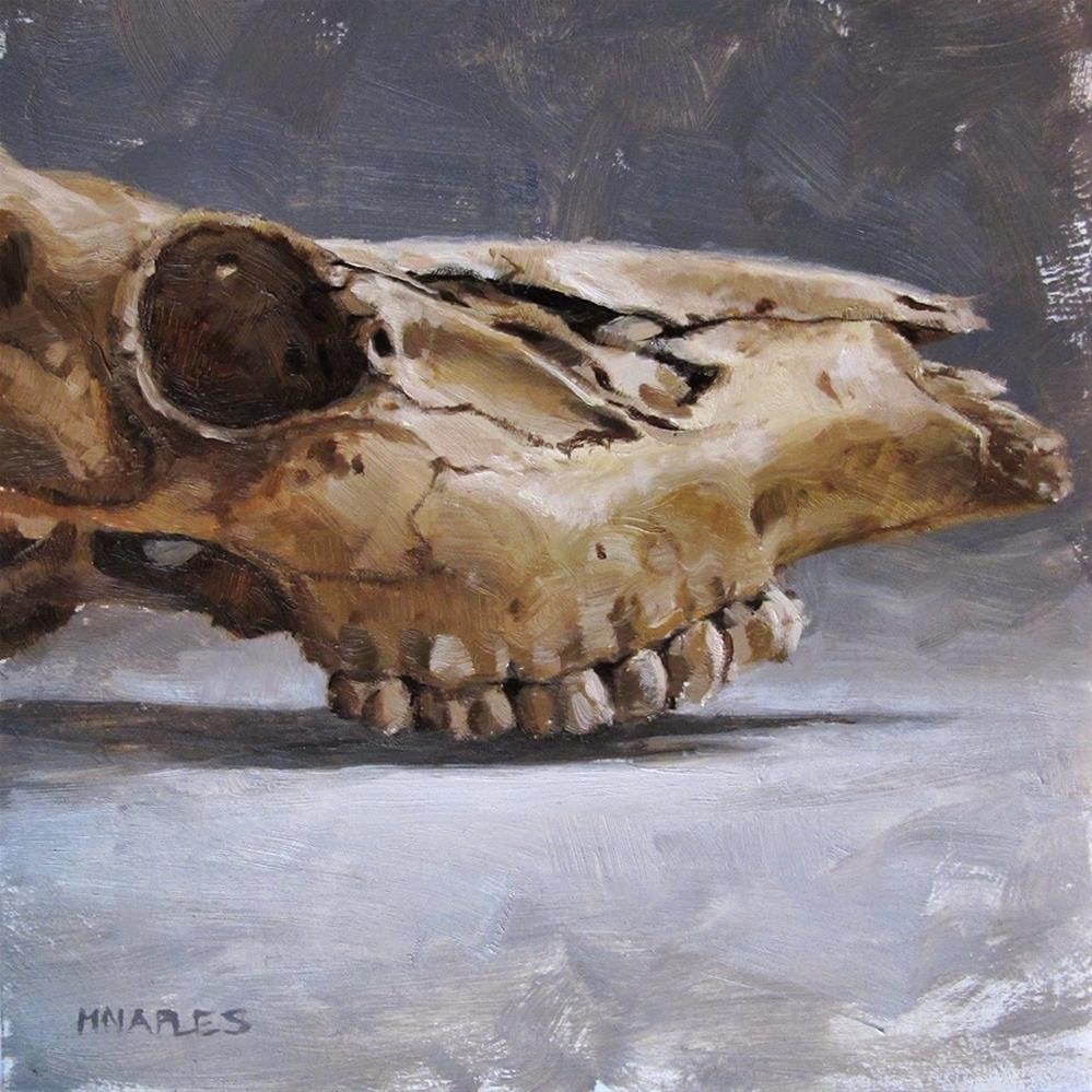 """Deer Skull Profile"" original fine art by Michael Naples"