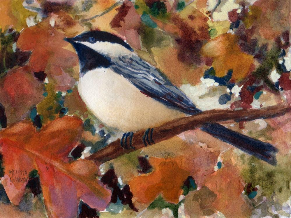 """""""Thoughts Among the Oak Leaves"""" original fine art by Melissa Gannon"""