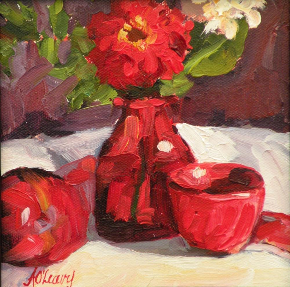 """""""Crimson Bowl"""" original fine art by Alice O'Leary"""