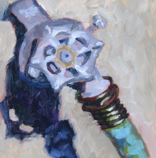 """""""Faucet Shadow"""" original fine art by Pam Holnback"""