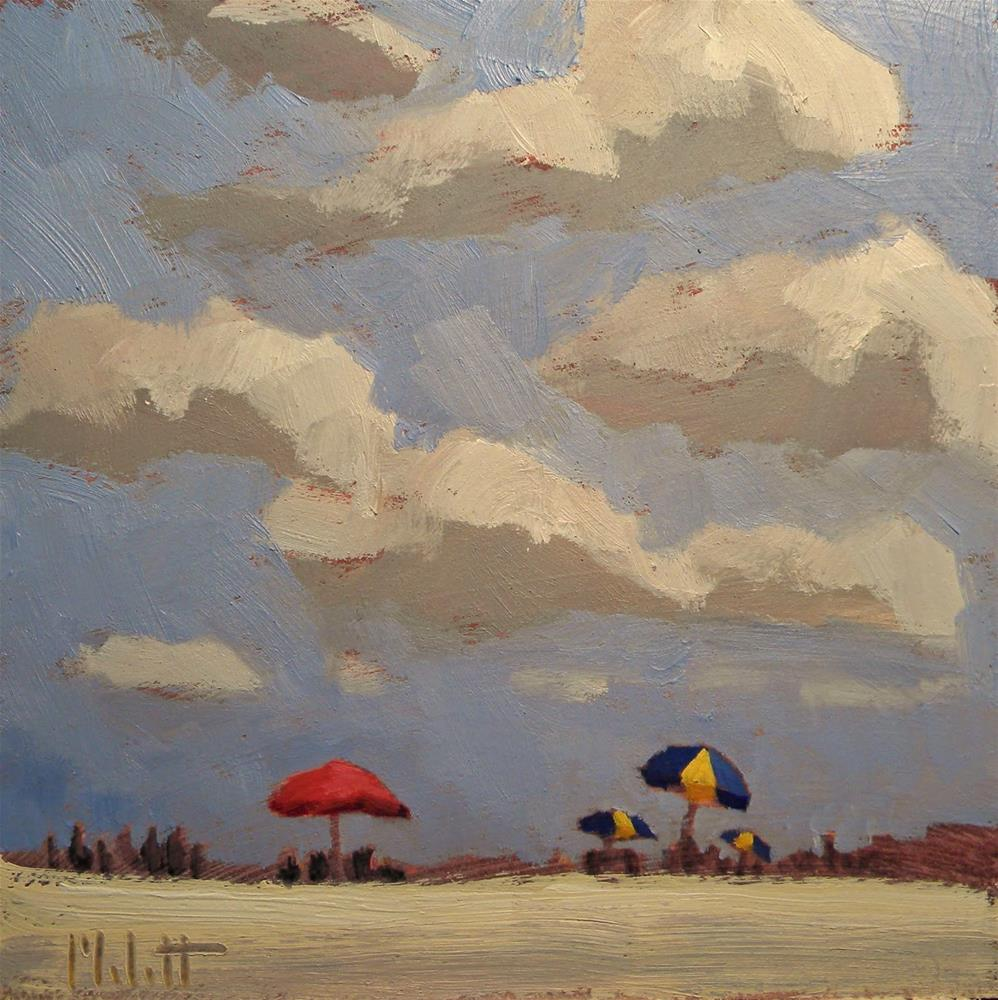 """Clouds Oceanside Spring Break Series"" original fine art by Heidi Malott"