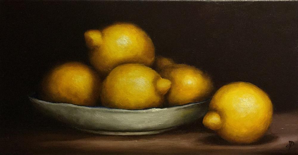 """Lemon dish"" original fine art by Jane Palmer"
