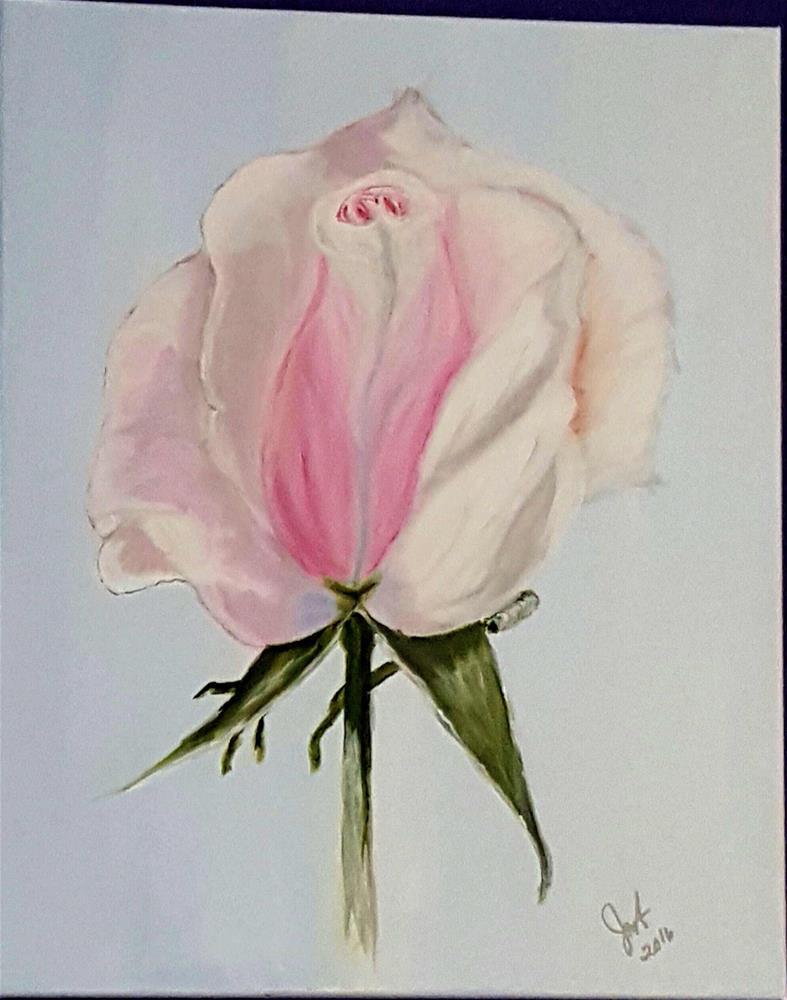 """Pink Rose"" original fine art by Joan Anderson"