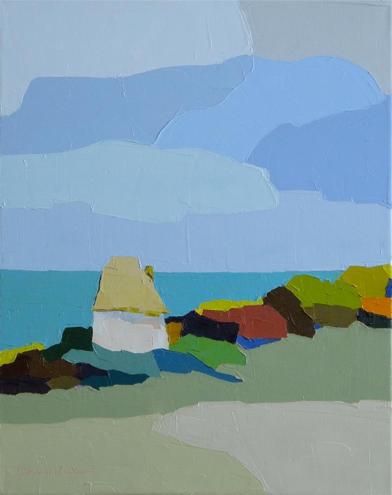 """Seaside Solitude"" original fine art by Donna Walker"