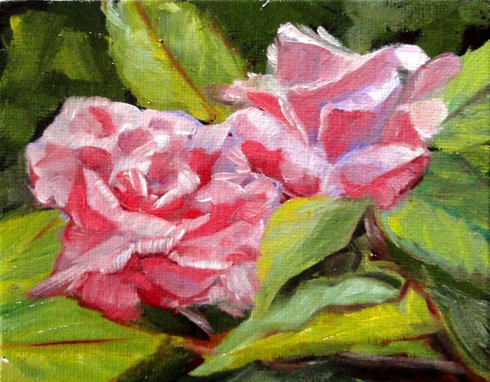 """Sandy's Roses"" original fine art by Cietha Wilson"