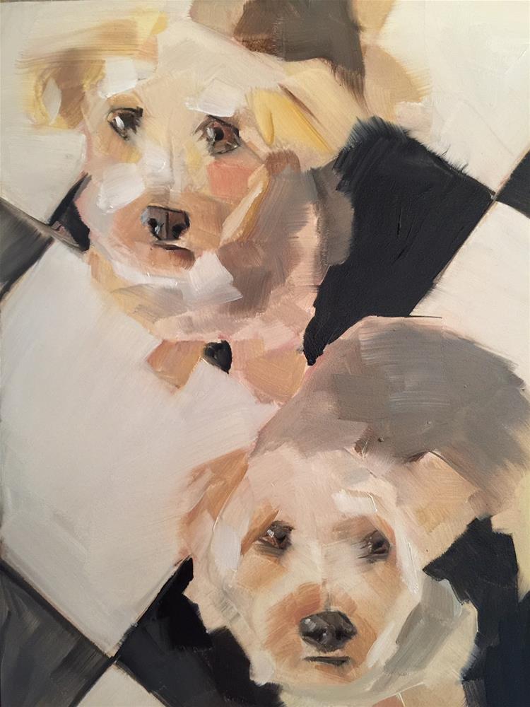 """457 Fur Babies"" original fine art by Jenny Doh"