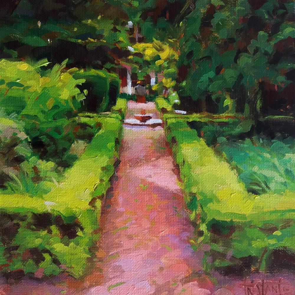 """""""Quiet garden"""" original fine art by Víctor Tristante"""