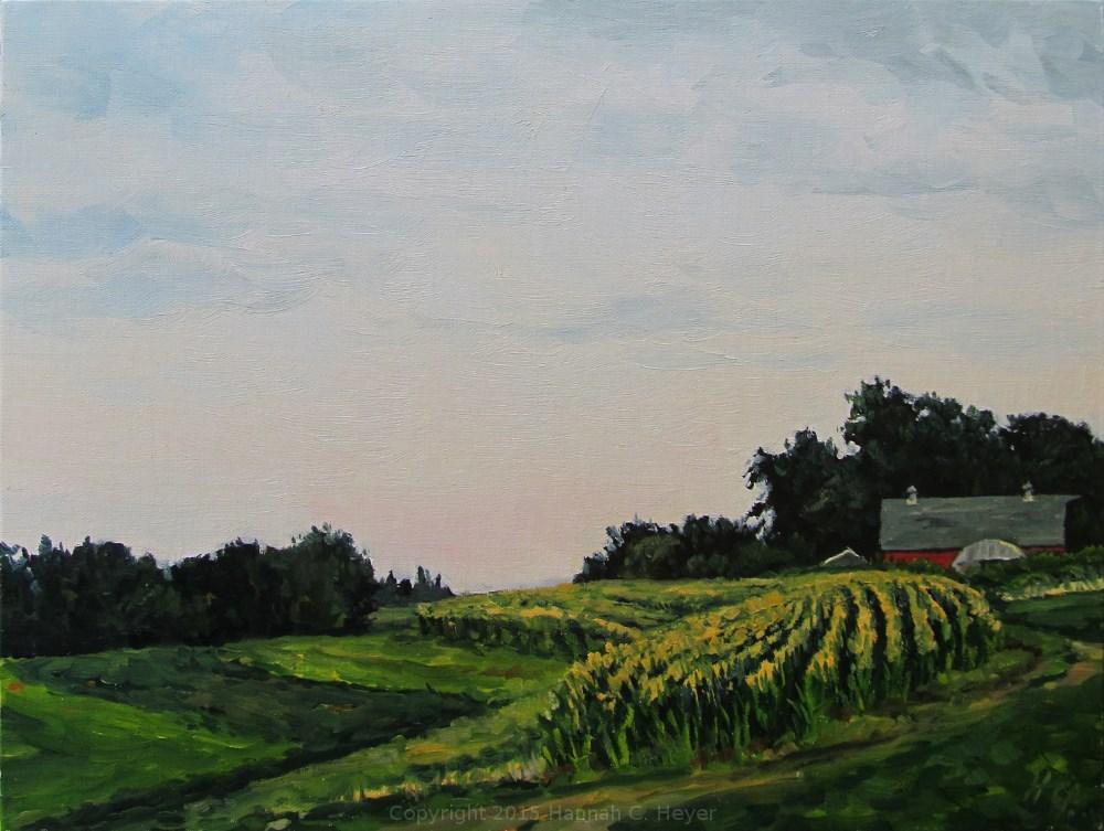 """Around the Corner"" original fine art by Hannah C. Heyer"