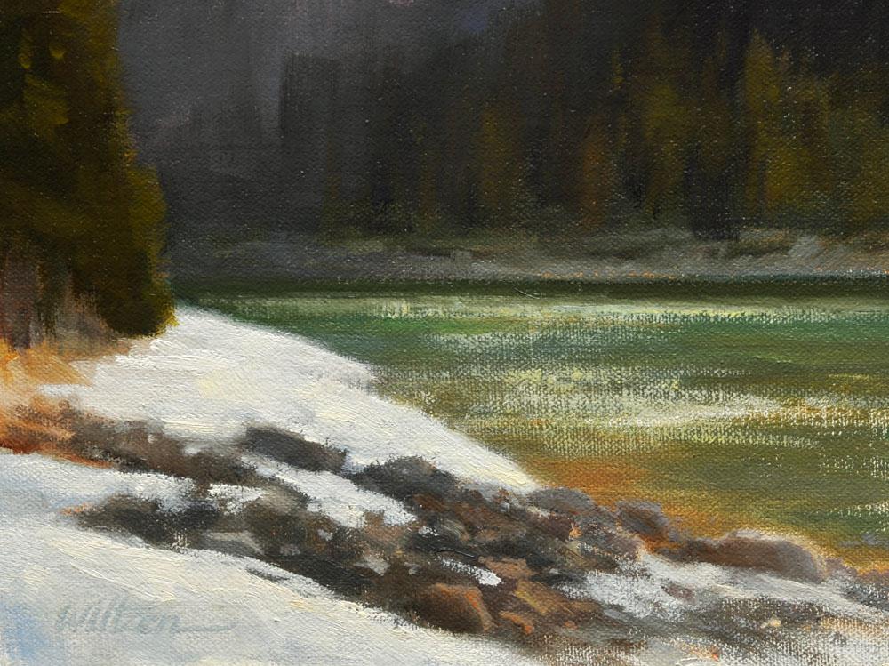 """""""Early Evening - the Bow River"""" original fine art by Liz Wiltzen"""