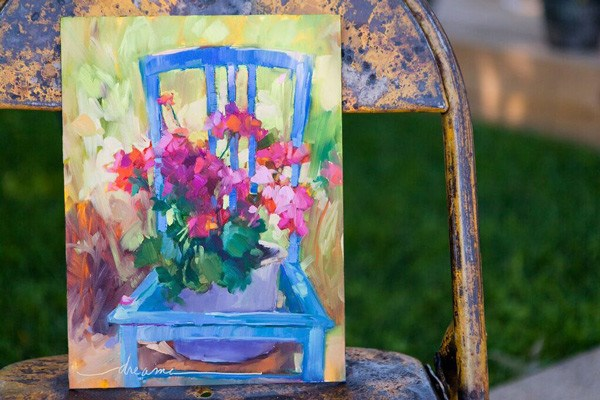 """""""Yes, This Is One of Them"""" original fine art by Dreama Tolle Perry"""