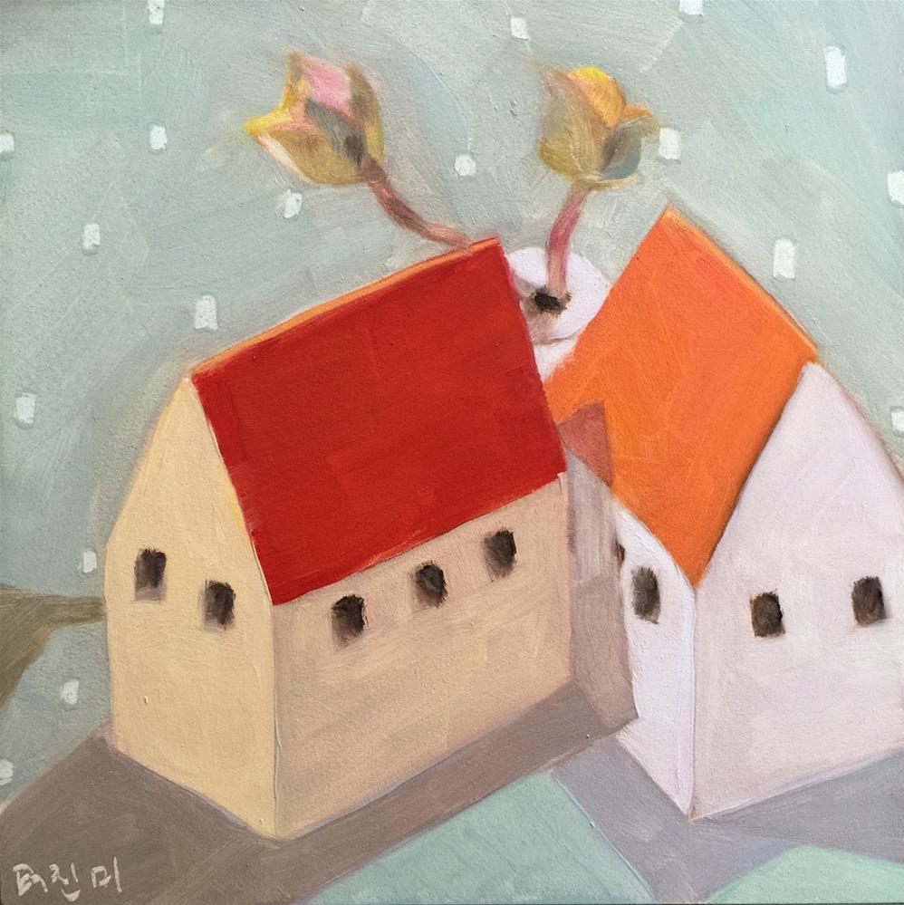 """80 Calm and Bright"" original fine art by Jenny Doh"