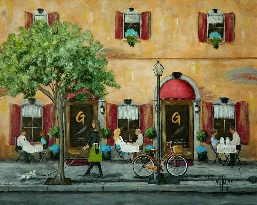 """Gino and Georgetti's"" original fine art by Sunny Williams"