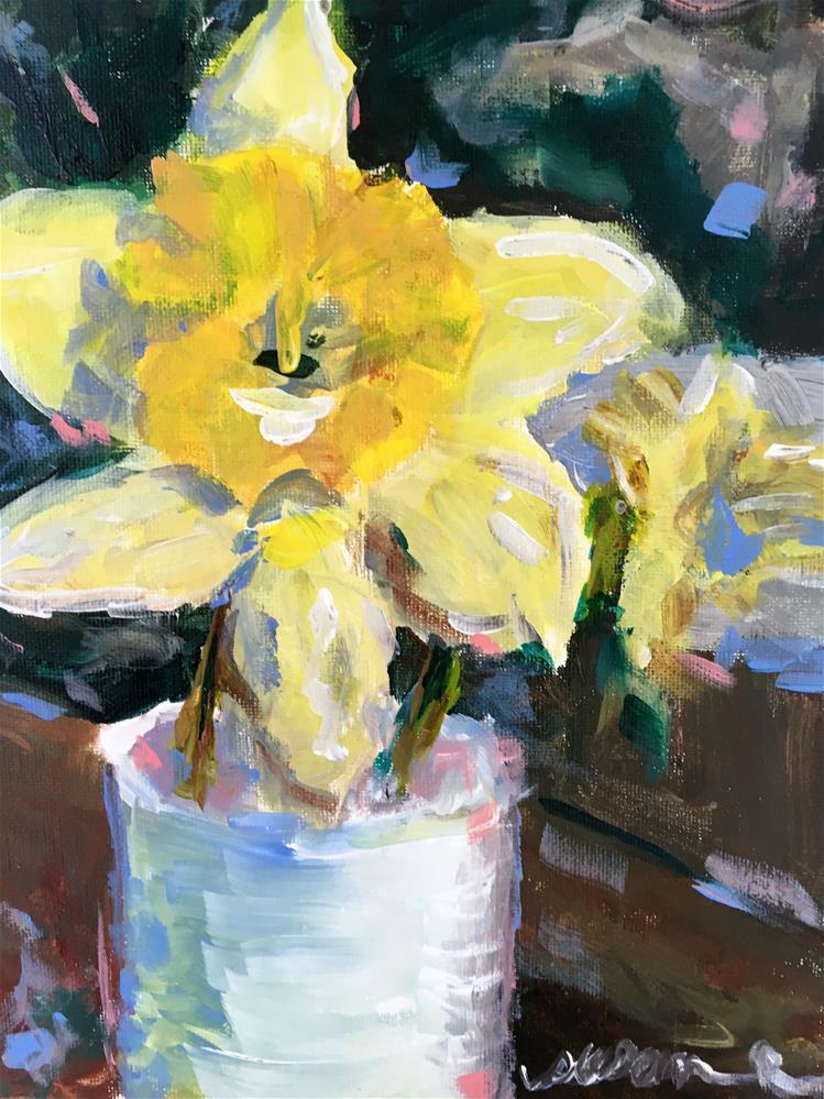 """""""Daffodil Study"""" original fine art by Susan Elizabeth Jones"""