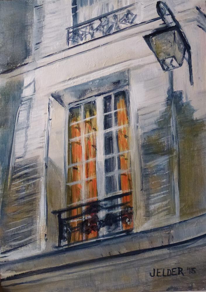 """""""Orange, Paris No. 82"""" original fine art by Judith Elder"""