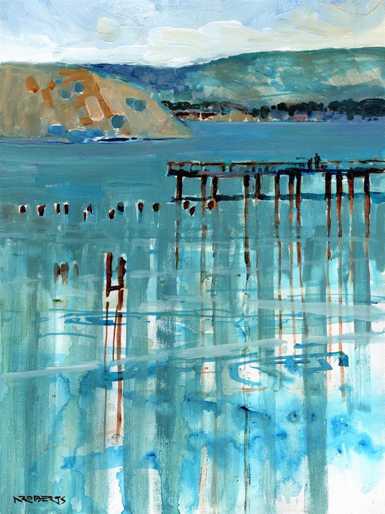 """Eckley Pier"" original fine art by Nancy Roberts"