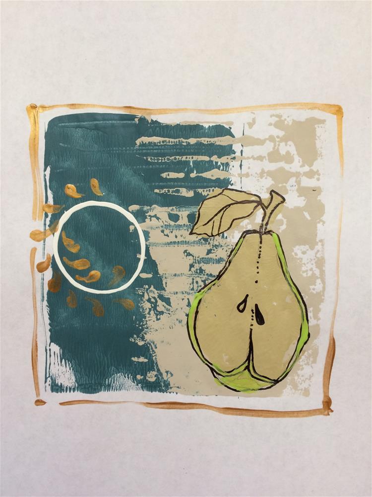 """Pear Print No.1"" original fine art by Teddi Parker"