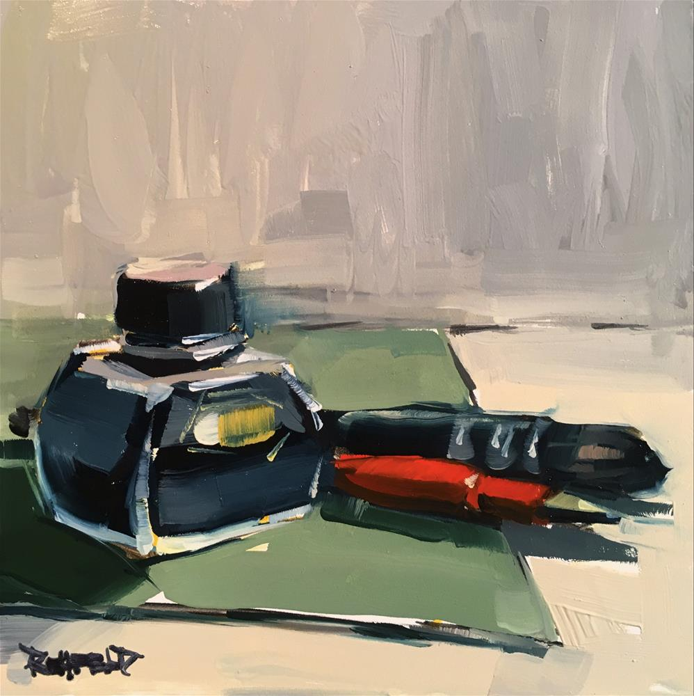 """""""Platinum Carbon Ink"""" original fine art by Cathleen Rehfeld"""
