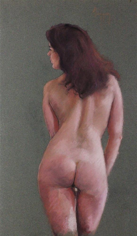 """Nude study standing nude"" original fine art by Marco Vazquez"